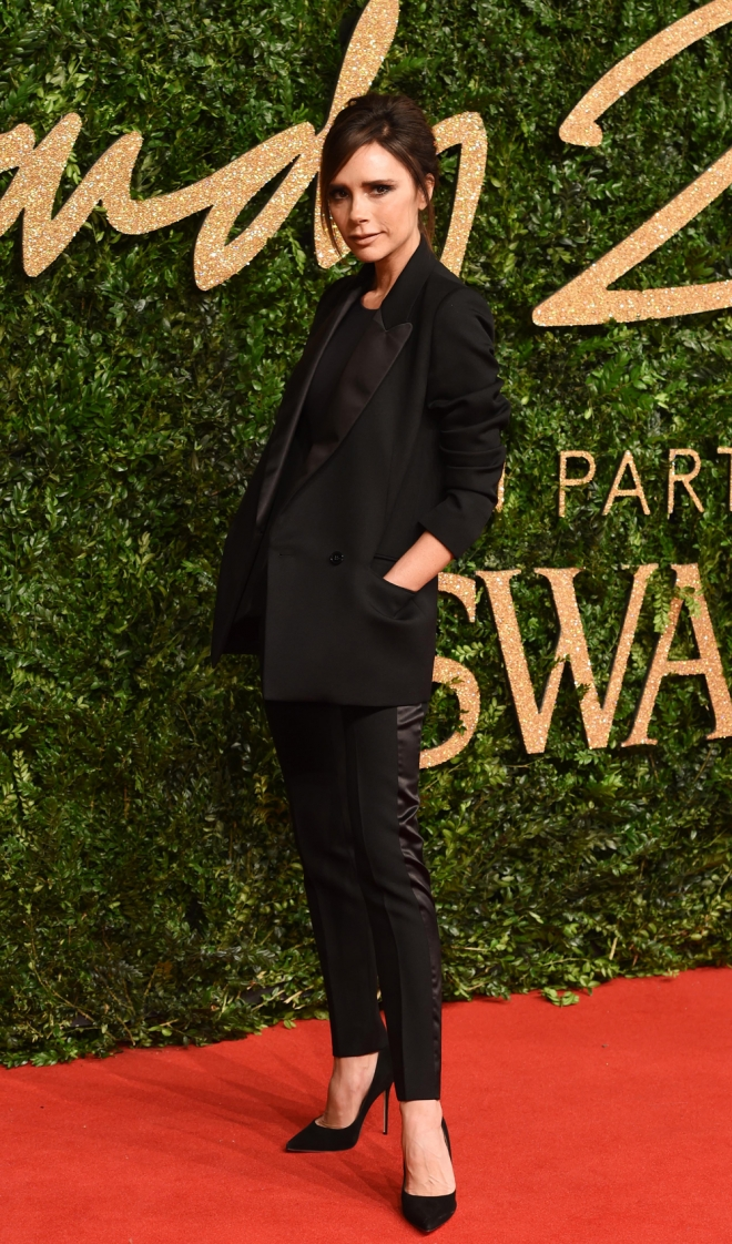 British Fashion Awards 2015: Victoria Beckham, total black