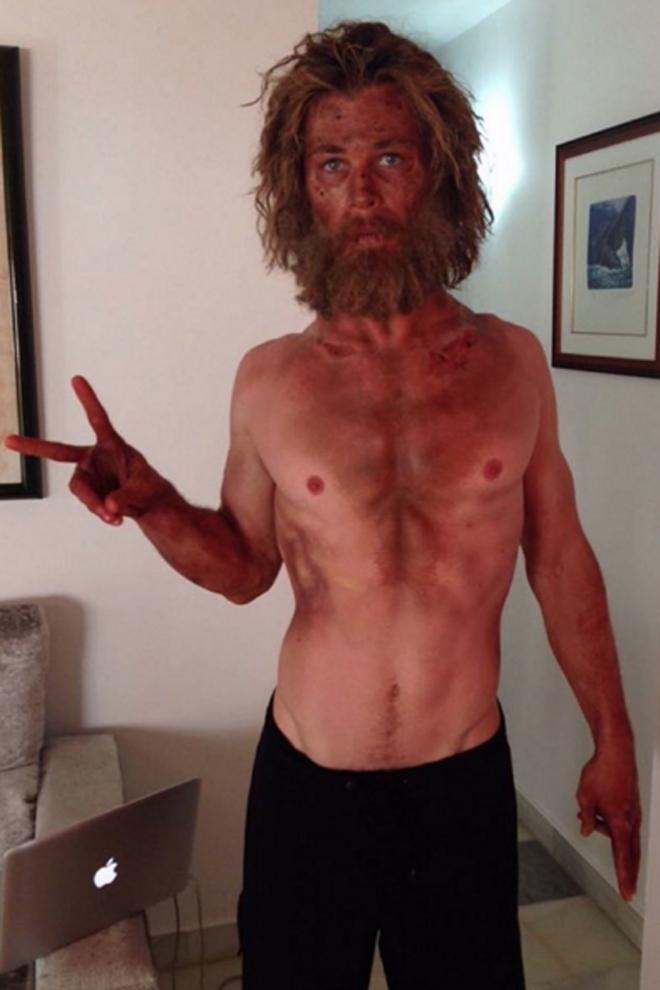 Cambios físicos actores: Chris Hemsworth, ¿qué te han hecho?