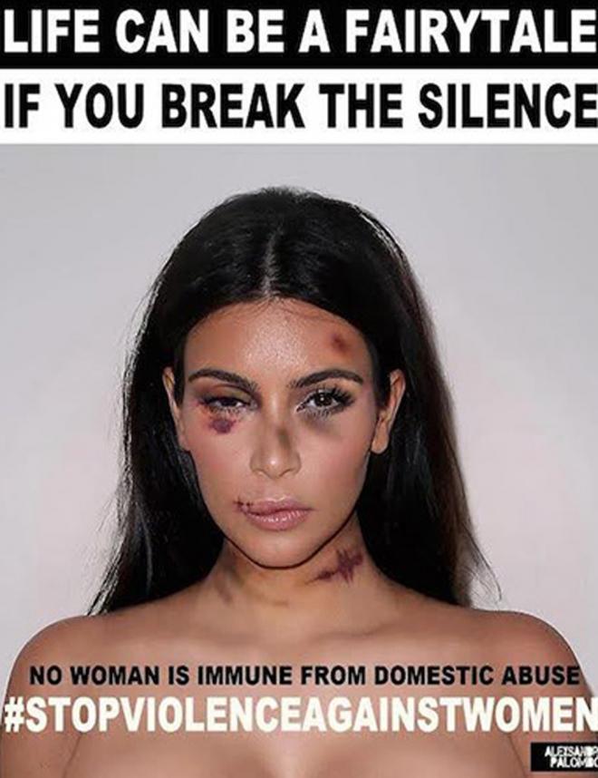 Violencia de género: Kim Kardashian dice NO al maltrato