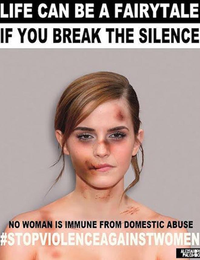 Violencia de género: Emma Watson lucha por la mujer
