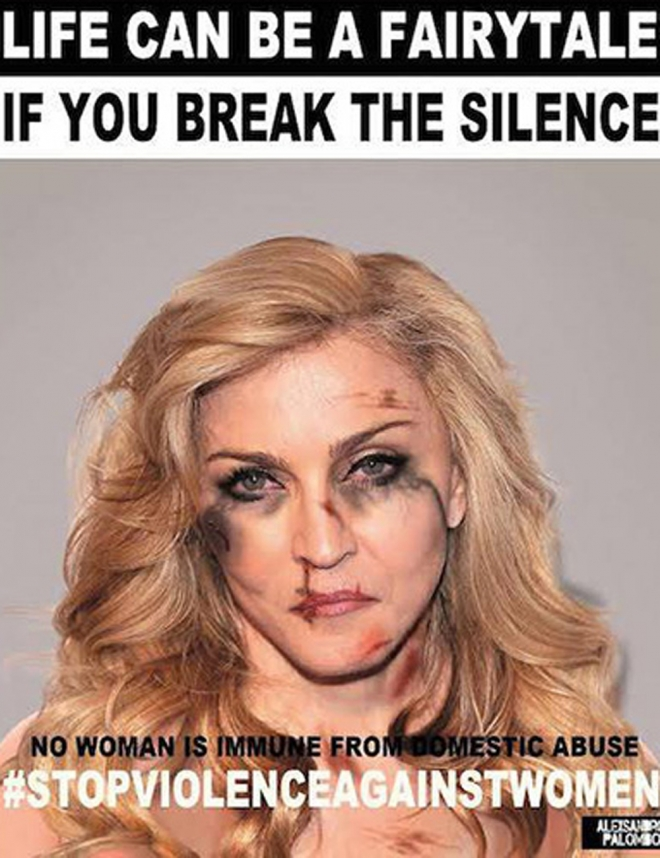 Violencia de género: Madonna apoyando a la mujer