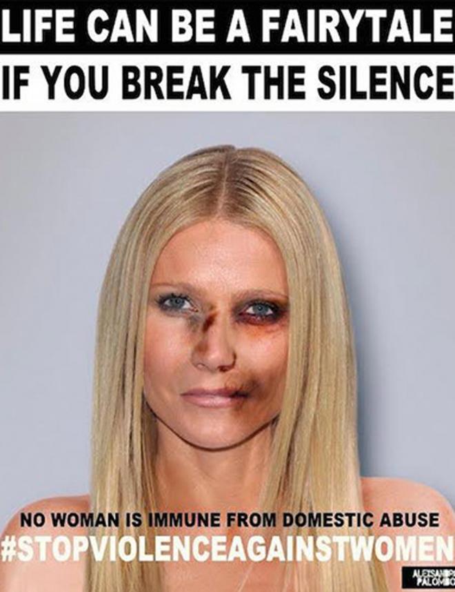 Violencia de género: Gwyneth Paltrow se suma a la lucha contra el maltrato