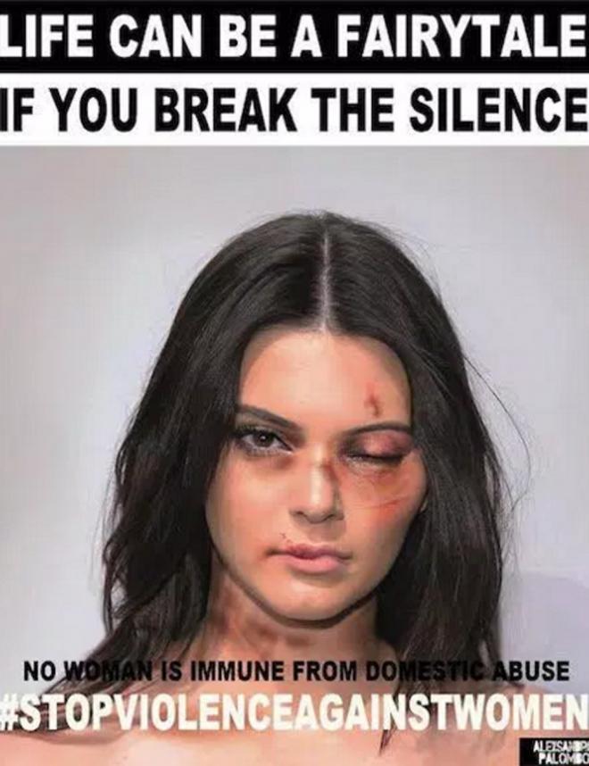 Violencia de género: Kendall Jenner, una más contra el maltrato