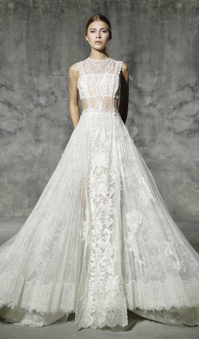 Vestidos de novia 2016: encaje blanco para YolanCris