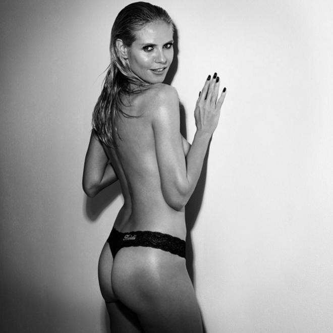 Heidi Klum, en topless y enseñando el culo para Intimates