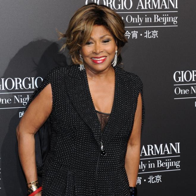 Tina Turner, lentejuelas para un photocall