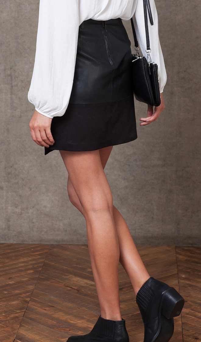 Faldas para 2016: una minifalda negra de Stradivarius