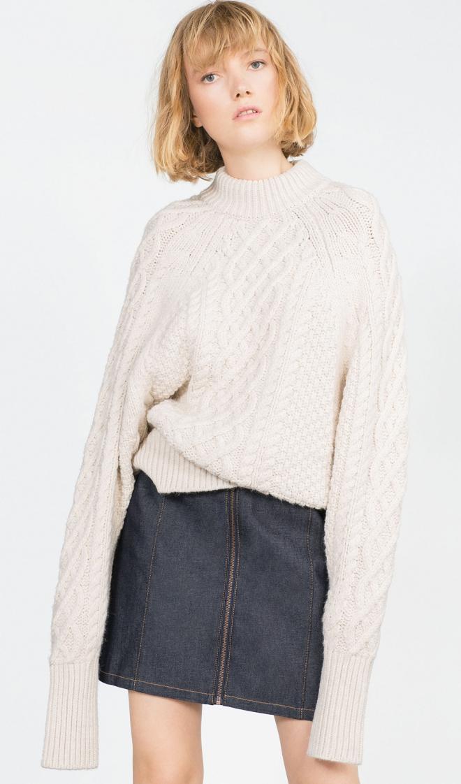 Faldas para 2016: la propuesta denim de Zara