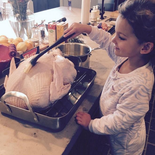 Acción de Gracias 2015: la celebración de Lily Aldridge y su hija