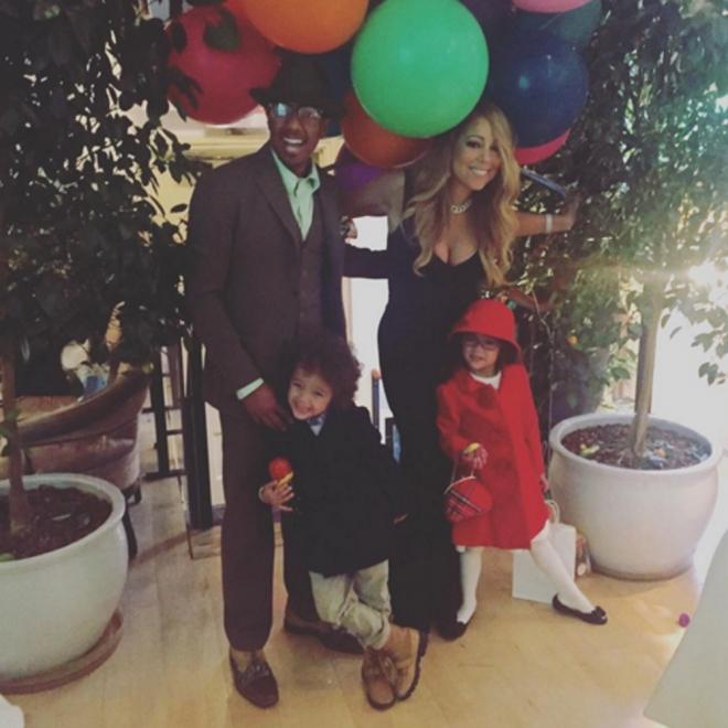 Acción de Gracias 2015: Mariah Carey, con Nick Cannon y sus hijos