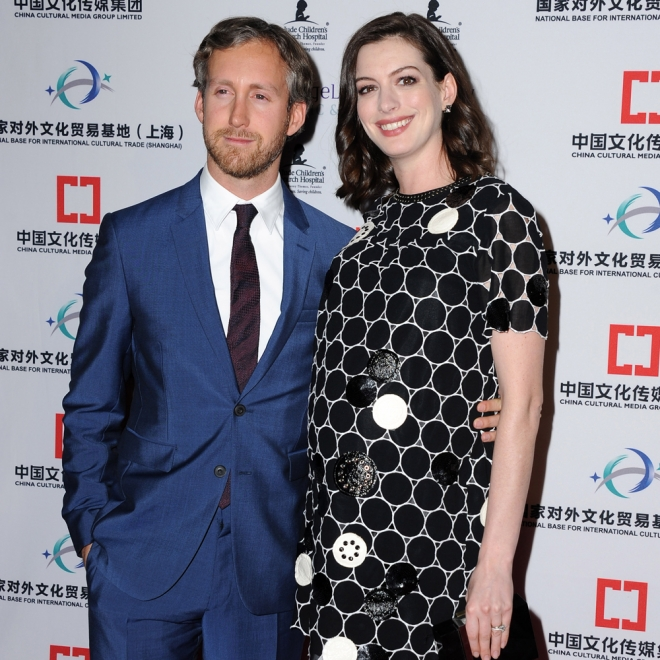 Famosos papás: Anne Hathaway y Adam Shulman