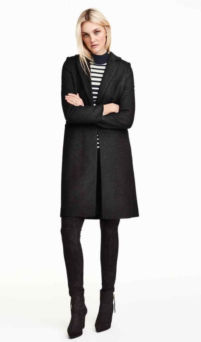 Abrigos 2016: una propuesta invernal de H&M en negro