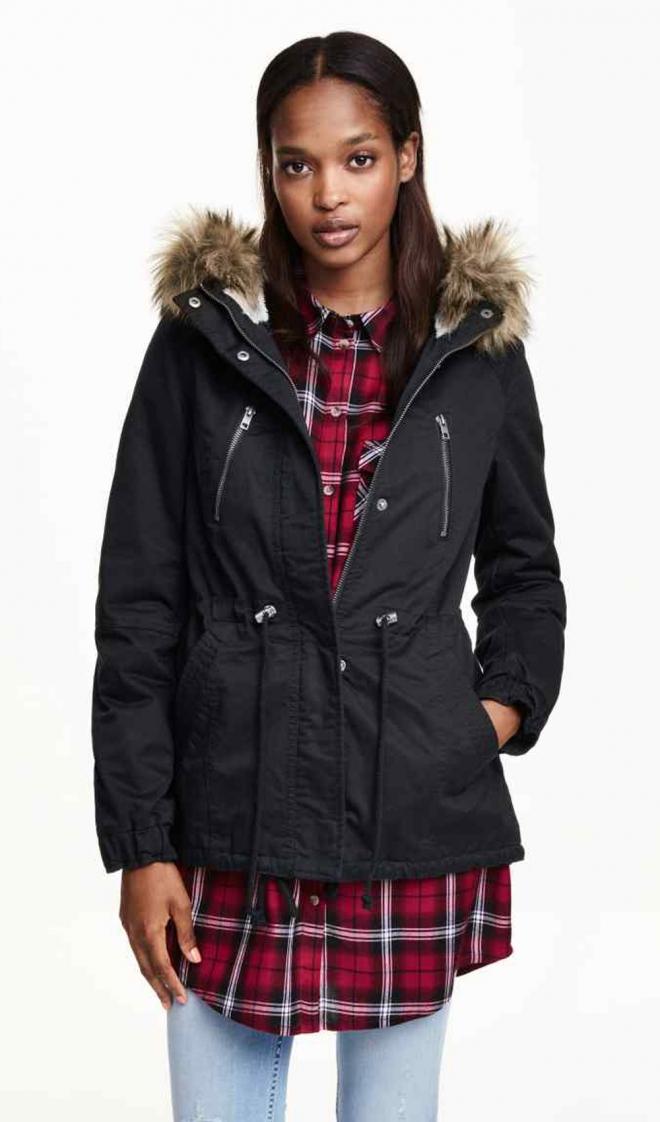 Abrigos para 2016: una parka de peluche de H&M