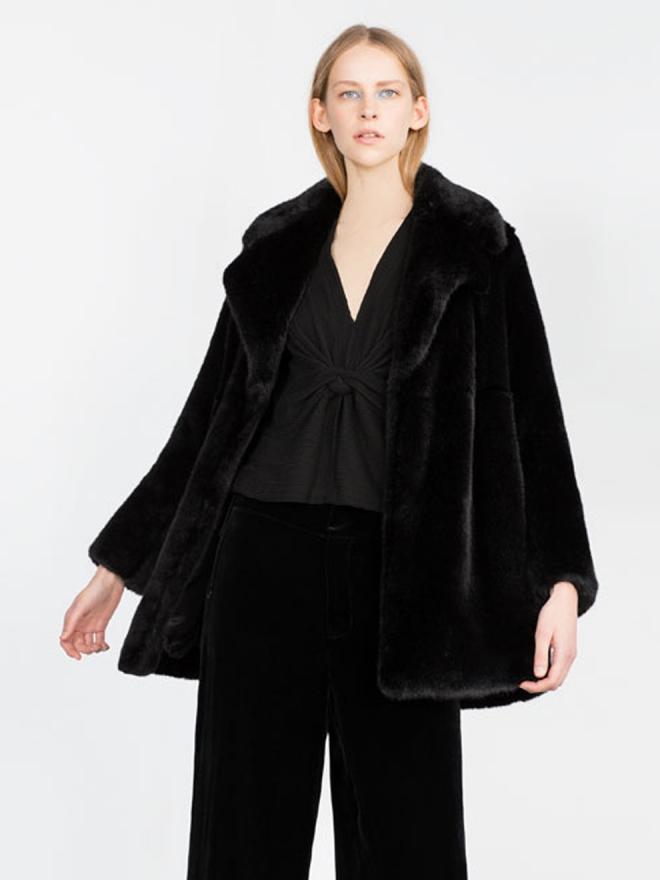 Abrigos para 2016: una propuesta de pelo de Zara