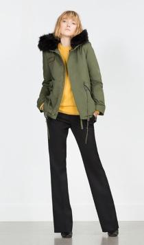 Abrigos para 2016: una parka verde de Zara