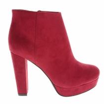 Zapatos para 2016: botines de plataforma rojos
