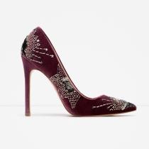 Zapatos para 2016: tacones con incrustaciones de Zara