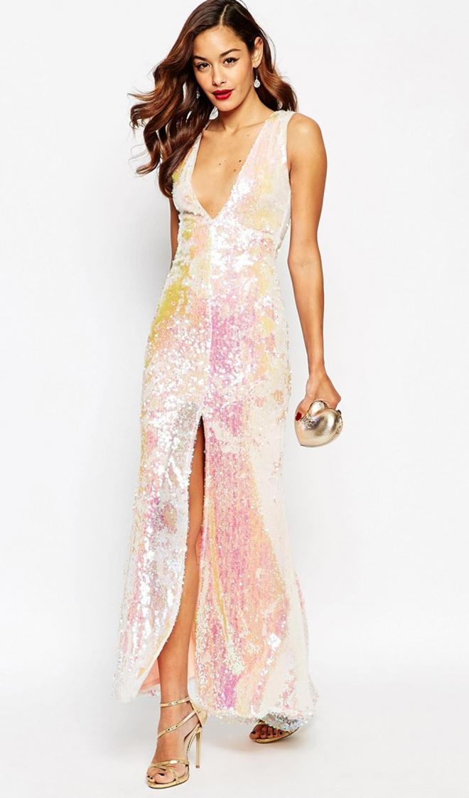157050fb1 Vestidos largos para bodas: el traje brillante de Asos para 2016