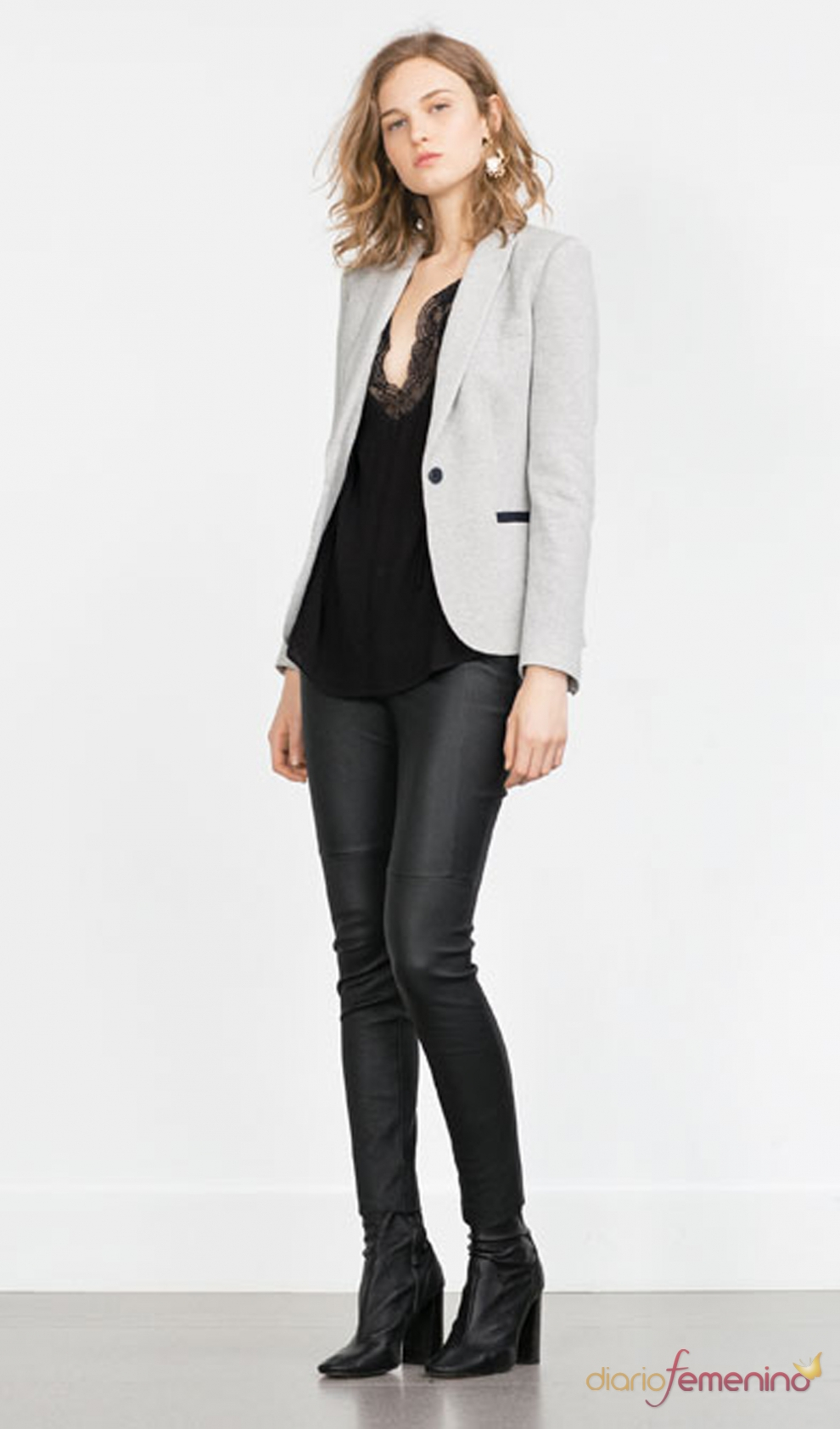 Zara 2016 Un Look Para Ir A La Oficina Con Blazer Y Pantal N De Cuero
