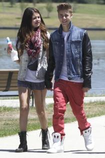 Justin Bieber y Selena Gomez, muy románticos