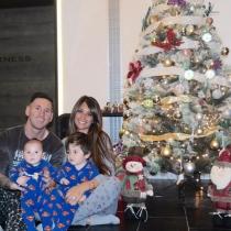 Las navidades más familiares de Messi y Antonella Rocuzzo
