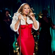 Mariah Carey animando las fiestas navideñas
