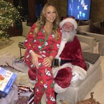Mariah Carey, toda una Mamá Noel con Santa Claus