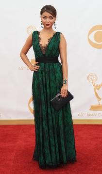 Vestidos Carolina Herrera: Sarah Hyland, muy guapa