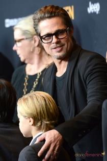 Famosos que son altos: Brad Pitt, 1'80 metros