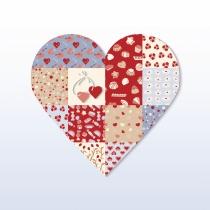 Tarjetas para San Valentín: un romántico corazón