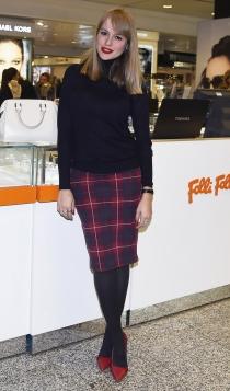 La falda de cuadros escoceses de Esmeralda Moya