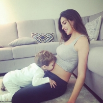 Sara Carbonero anunciando su segundo embarazo con Martín