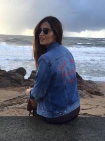 Sara Carbonero, disfrutando del paisaje en Portugal