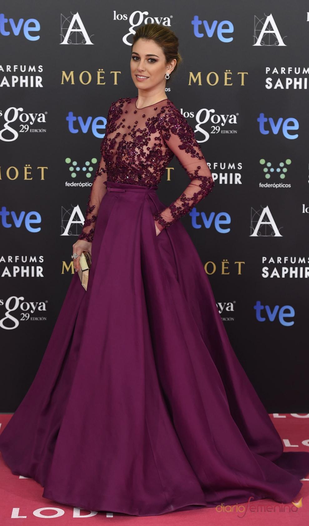 Vestidos Goya: Blanca Suárez, radiante y estupenda