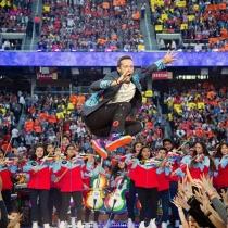 Super Bowl 2016: Chris Martin, 'volando' en Instagram