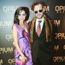 Macarena Gómez, con su estupendo marido