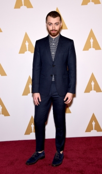 Oscars 2016: Sam Smith, muy guapo
