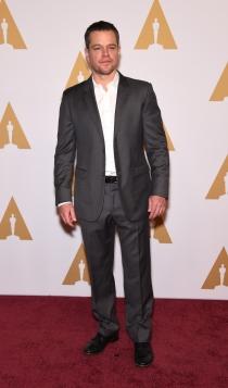 Oscars 2016: Matt Damon, muy guapo