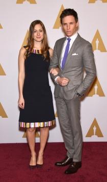 Oscars 2016: Eddie Redmayne y su mujer, inseparables