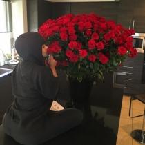 San Valentín en Instagram: Blac Chyna y las flores de Rob Kardashian