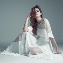 Ximena Navarrete, en una de sus producciones de moda