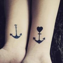 Tatuajes para parejas: las anclas del amor