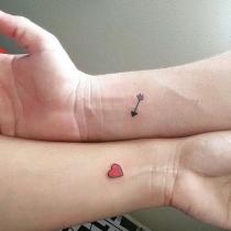 Tatuajes para parejas: las flechas del amor
