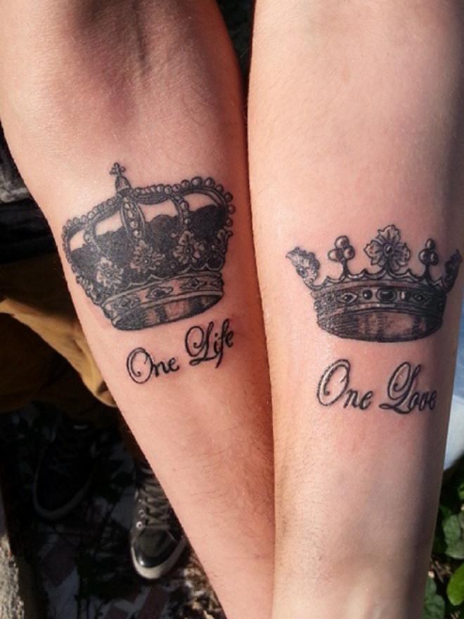 Tatuajes para parejas un amor, una vida