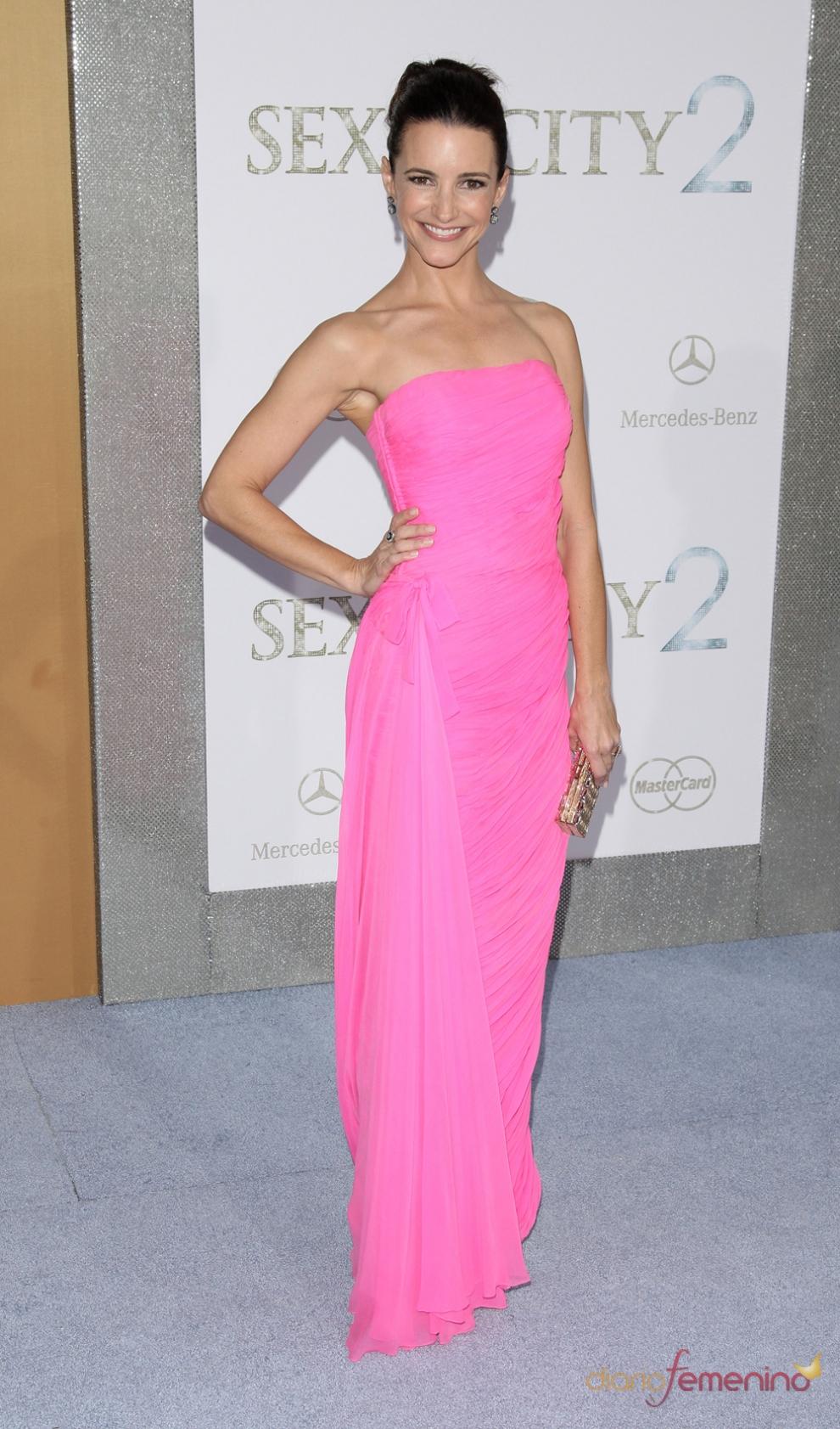 Vestido rosa en Diario Femenino