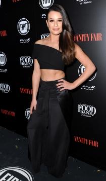 Lea Michele, sexy de negro