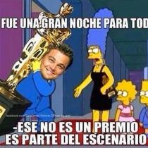 Memes Oscars 2016: Leonardo DiCaprio se marca un Homer Simpson