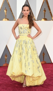 Oscars 2016: Alicia Vikander, cero supersticiones
