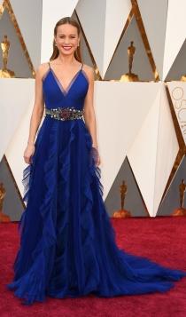 Oscars 2016: Brie Larson, un vestido azul de Gucci para ganar
