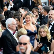 Momentazos Oscars 2016: Sofía Vergara, saludando a lo Isabel II